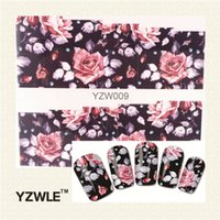 Wholesale- YZWLE 1 Sheet Chic Flower Nail Art Water Decals Tr...