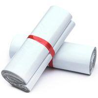 15x27cm أبيض بولي الارسال الشحن أكياس التعبئة والتغليف البلاستيكية المنتجات البريد عن طريق Courier لوازم التخزين البريدية الحقيبة حزمة لاصقة النفس لوط