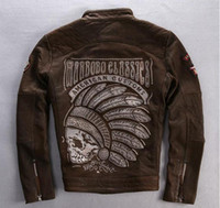 AMERICAN SUCTOMS Mens classic motorcycle clothes Western US ...