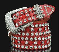 Neuer Stil Gürtel Diamant Kristall Gürtel Frauen Perle Taille Gürtel wunderschöne Kristall glänzende Gürtel Rindsleder Designer Gürtel Frauen Mädchen Taille Gürtel