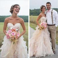 Плюс размер свадебные платья оборками органза 2017 свадебные свадебные платья весна линия милая длина пола свадебные платья для свадьбы