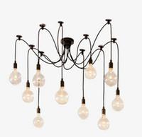 Vintage Lampes Suspendues RH Loft rétro Edison ampoules luminaires suspendus Creative araignée luminaire 110V-240V Livraison gratuite