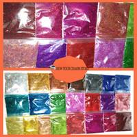 Toptan-22 Renkler Lazer Holografik Renkli 0.2mm 1/128 Nail Dekorasyon ve Diğerleri Için Güzel Glitter Toz DIY Aksesuarları