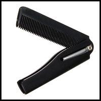 도매 - 새로운 스타일 1pcs 헤어 미용 접는 콧수염 비어드 빗 손으로 만든 남자를위한 도구 여성