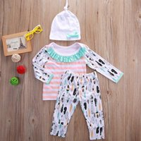 Newborn BABY Clothes Kids Girls Clothing Set Autumn Fall Paj...