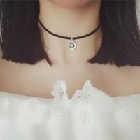 Girasol encanto Gargantilla Chunky Declaración babero cadena simple manera del collar de la flor de Sun elefante clavícula Vintage Negro tatuaje gótico 80S 90S