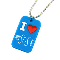 1PC 5SOS Pendant With 24 Inch Ball Chain I Love 5 Seconds Of...