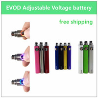 20PCs EVOD adjustable voltage battery - 650mAh 900mAh 1100mA...