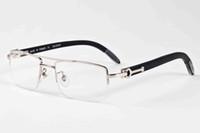 2020 do vintage retro forma dos homens óculos de sol quadro de madeira óculos sem aro semi para óculos mulheres do esporte vêm com caixa mens óculos esportivos