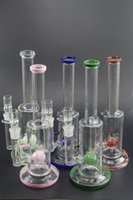 Thick Straight Pink Beaker bong Zob Perc Pipe Colorful glass...