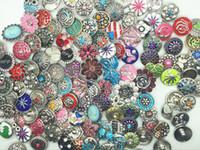 Großhandels assorted austauschbar 18mm Snap Charms Strass Knöpfe arbeiten für Diy Ingwer Snaps Schmuck Armband Anhänger Ring