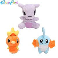 3styles pikachu toy doll Mewtwo Torchic Mudkip soft plush st...