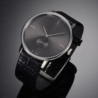 Классические горячие продажи женские часы мужские часы Genuien кожа красочные Леди часы бизнес классический Леди наручные часы джентльмен часы бесплатная доставка