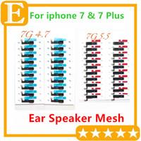Original Novo Fone de Ouvido Anti-poeira Tela Grelha Malha com Suporte Adesivo para iPhone 7G 4.7 '' 7 Plus 5.5 '' Peças de Reposição 100 PCS