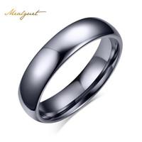 Meaeguet 4 ملليمتر واسعة 100٪ التنغستن خواتم الفضة اللون خواتم الزفاف للنساء مجوهرات بالجملة الدائري التنغستن CTR-012