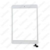 Ipad Mini黒と白のICコネクタホームブトンの50ピースのタッチスクリーンメガネのデジタイザ