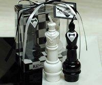 10 Sätze KingQueen Schach Kerze Hochzeit Baby Shower Geburtstag Souvenirs Geschenke Gunsten mit PVC Box verpackt
