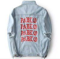 album PABLO Coats Kanye West Pablo Denim Jackets Men Hip Hop...