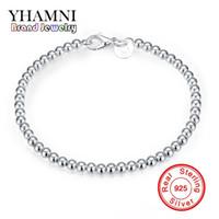 YHAMNI monili di lusso originale argento 925 braccialetto in argento per le donne Argento Perle del braccialetto di modo H198
