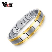 Wholesale- Health Bracelets for men Magnetic and Germanium St...