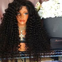 Top Quality Natural Black Glueless Synthetic Wigs Kinky Curl...