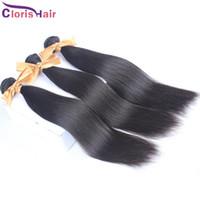 Sortie Silky droite brésilienne Vierge Mink état brut humain Extensions de cheveux naturels en gros droites Remy Weave Mix 3 offres Bundles
