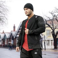 Gym Muscle Fitness Brüder Schlank Shark Jacke Mantel Männer Winter Mode Lässig JOGGER Skateboard Bodybuild Trainingsanzug Jeansjacke