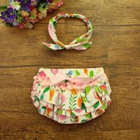 Trendy Baby Girl Headband and Bloomers Set Floral Cotton Blo...