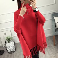 Wholesale- 2016 new female head sweater fringed shawl autumn...