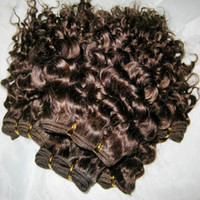 On Sale !! 8 inch short virgin curly hair weave 100% Peruvia...