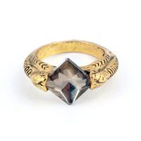 خواتم ريترو كول مجوهرات رمادي الماس معبأ الماس مقلد الأحجار الكريمة زفاف خطوبة باند جولة الدائري Size5-11