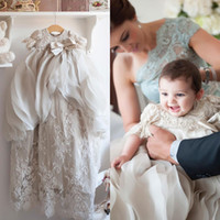 Cheap Little Christening Gowns For Baby Girls Beads Applique...