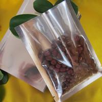 Open Top Argento / Trasparente Sacchetto di imballaggio in alluminio Vuoto Imballaggio per alimenti Contenitore per sacchetti Borse Sacchetti Polipropilene per imballaggio a caldo