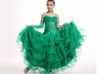costumi di danza moderna per bambini sala da ballo ragazze da ballo standard abito da ballo per ragazze da ballo sala da ballo vestito da competizione