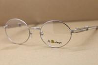 atacado 7550178 Rodada Óculos Diamante azul inoxidável óculos óculos de aço olho quadros para homens Frames C Decoração Tamanho ouro: 57-22-140mm