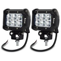 4Inch 18W CREE LED Working Light 9- 32V Bar Spot Flood Beam 1...