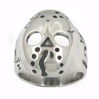 Fanssteel de aço inoxidável vintage mens ou wemens jóias signet clássico 13 crânio máscara anel anel fsr13w11