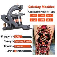 Nouveau Tattoo Machine Professionnel Pistolet de tatouage permanent Shader Machine Coloriage Pistolet à colorier 10 Bobines de bobines WQ4662