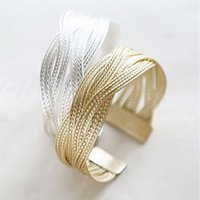 Wholesale- Summer Style Twisted Gold plated Bangle Braclets J...