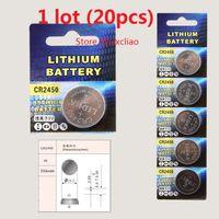 20pcs CR2450 3V 리튬 이온 버튼 셀 배터리 CR 2450 3 리터 리튬 이온 배터리 배터리 무료 배송
