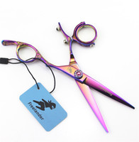 6. 0 Inch 360° Swivel thumb Hairdressing Scissors Flower Hand...