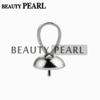 10 Pieces Pendant Bail 7mm Cup with Peg 925 Sterling Silver ...