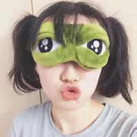 3D 슬픈 개구리 수면 마스크 휴식 여행 긴장 수면 보조 눈가리개 EyePatch 슬리핑 마스크 케이스 애니메이션 눈 마스크 코스프레 의상