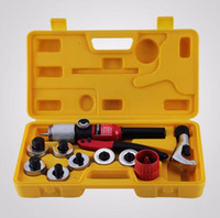 Hydraulic Tube Expander Swaging 7 Lever Expander Tools Kit HVAC Tool with Case Tubing Expanding Swaging Kit
