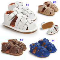 4 Colour Baby summer gladiator sandals soft sole PU leather ...
