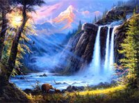 Waterfall Landscape Full 5D DIY Diamond Painting Mosaic Need...