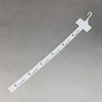 L42cm PP Plástico Productos Al Por Menor que Cuelga Productos Básicos Exhibidores Clips 6 Ganchos / pc Supermercado Promoción 80 unids