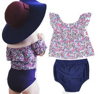 Wholesale ins Girls Baby Clothing Sets Flowers Shirts Tops P...