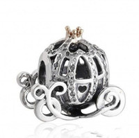Authentic 925 Sterling Silver Cinderella Pumpkin Charm Beads...