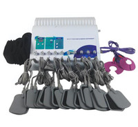 Professionell 2 i 1 FAR Infraröd Uppvärmningsplatta Elektroder Ryska Våg Elektrisk Muskel EMS Electro Stimulering Slimming Machine